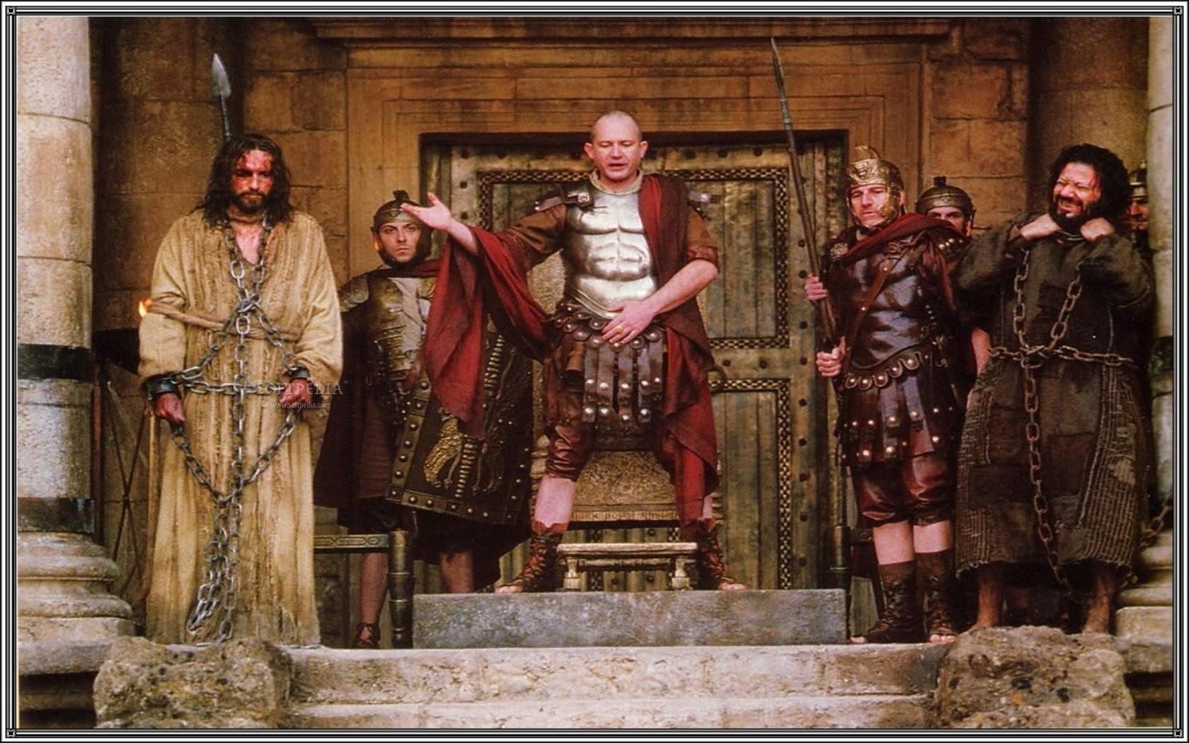 Pontius Pilate presents the 2 options for pardon.