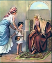 Samuel is presented to Eli I Samuel 1:24-28